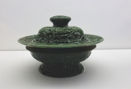 Censor with lid decorated with peonies (Qing dynasty)
