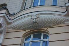 Decorative feature of building near Fotoplastikon