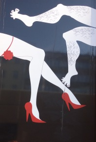 Outside a sex shop: it makes me laugh every time I see it