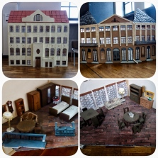Miniature house at the Nożyk Synagogue: no labels