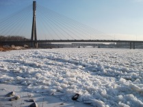 Wisła bridges and ice