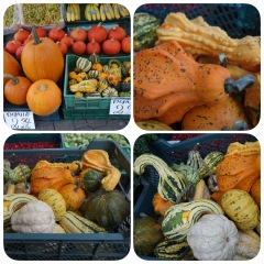 Pumpkins at my favourite stall and vegetable shop