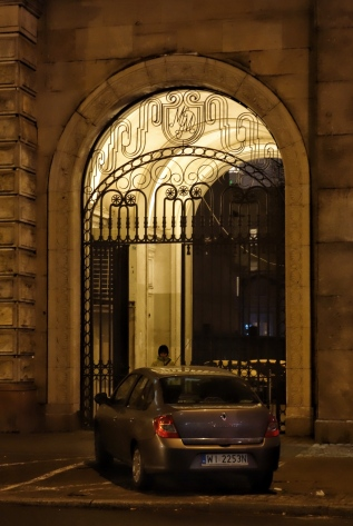 Archway at night